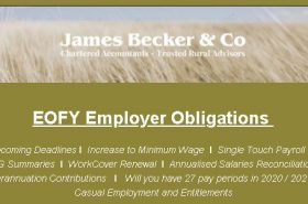 EOFY Employer Obligations – June 2020 | Becker & Co