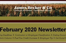 February 2020 Newsletter | Becker & Co
